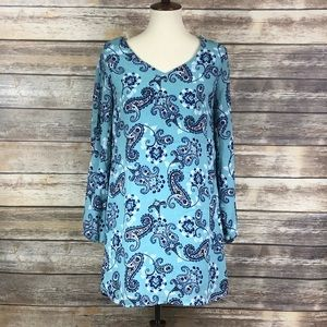 NWT Charlotte Russe open sleeve Dress Paisley S